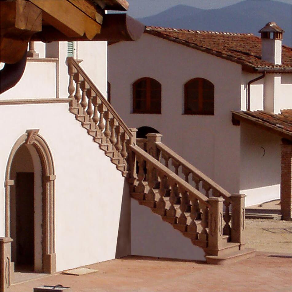 Velo di finitura PHASE - Rasante per finitura - Esempio di applicazione di velo Velo di Finitura PHASE su palazzo storico | Phase Restauro
